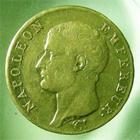Photo numismatique  Monnaies Monnaies Françaises 1er Empire 40 Francs or NAPOLEON Ier, 40 francs or, 1806 A, Gadoury 1082 TTB