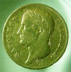 Photo numismatique  Monnaies Monnaies Françaises 1er Empire 40 Francs or NAPOLEON Ier, 1808 A, 40 francs or, Gadoury 1083 TTB