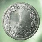 Photo numismatique  Monnaies Monnaies étrangères Afrique centrale, central africa 1 Franc AFRIQUE CENTRALE, 1 Franc 1978, KM.8 SUPERBE plusieurs exemplaires disponibles !!