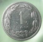 Photo numismatique  Monnaies Monnaies étrangères Afrique centrale, central africa 1 Franc AFRIQUE CENTRALE, 1 franc 1982, KM.8 SUPERBE plusieurs exemplaires disponibles