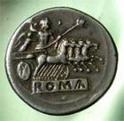 Photo numismatique  Monnaies R�publique Romaine 225.215 av Jc Quadrgatus, didrachme Quadrigatus, didrachme, monnayage anonyme, vers 225.215 avant Jc, 6.63 grammes, Bab.23, SYD.64, TTB � SUPERBE flan large 23.80 mm, belle monnaie !!