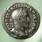 Photo numismatique  Monnaies Empire Romain MAXIMIN I, MAXIMINUS I, MAXIMINO I Denier, denar, denario, denarius MAXIMINUS I, MAXIMIN Ier, denier frappé à Rome en 236.238, Fides militum,2.71 grammes, RIC.18A TTB à SUPERBE