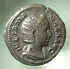 Photo numismatique  Monnaies Empire Romain JULIA MAMEE, JULIA MAMEA, IULIA MAMEA Denier, denar, denario, denarius IULIA MAMEA, JULIA MAMEE, denier frappé à Rome en 228, Felicitas publica,3.33 grammes, RIC.335 TTB à SUPERBE
