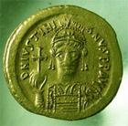 Photo numismatique  Monnaies Monnaies Byzantines 6ème siècle Solidus, solidii IUSTINIAN, JUSTINIEN Ier, JUSTINIAN, solidus, Constantinople, 4.46 grammes, Sear 140 TTB+