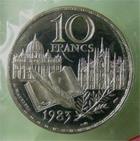 Photo numismatique  Monnaies Monnaies Françaises Cinquième république Piefort du 10 francs Stendhal Vème République, piefort du 10 francs Stendhal, 1983, Argent, G.817P, FDC sans certificat et boitier