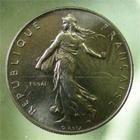 Photo numismatique  Monnaies Monnaies Fran�aises Cinqui�me r�publique 1 Franc essai V�me R�publique, 1 franc essai 1959, Gadoury 474 FDC Rare!!