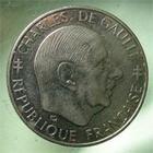 Photo numismatique  Monnaies Monnaies Fran�aises Cinqui�me r�publique 1 Franc V�me R�publique, 1 franc De gaulle sans diff�rents,1988, Gadoury 475 TTB+ Rare!
