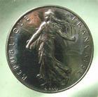 Photo numismatique  Monnaies Monnaies Françaises Cinquième république 1 Franc Vème République, 1 franc 1996, Gadoury 474 FDC Rare!R!