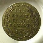 Photo numismatique  Monnaies Jetons Bonaparte Jeton laiton BONAPARTE, campagne d'Italie, jeton en laiton 24 mm,1796, Hennin 763 TTB R!