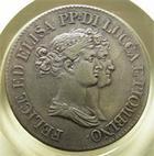 Photo numismatique  Monnaies Monnaies Françaises Napoleonides 5 Franchi LUCQUE ET PIOMBINO (lucca e piombino) 5 franchi 1808, Gigante 4b, TTB+