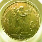 Photo numismatique  Monnaies Monnaies Fran�aises Troisi�me R�publique 100 Francs or III�me R�publique, 100 francs or type genie, 1900 A, G.1137 TTB+