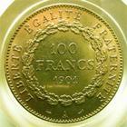 Photo numismatique  Monnaies Monnaies Fran�aises Troisi�me R�publique 100 Francs or III�me R�publique, 100 francs or type genie, 1901 A, G.1137 TTB � SUPERBE