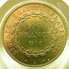 Photo numismatique  Monnaies Monnaies Fran�aises Troisi�me R�publique 100 Francs or III�me R�publique, 100 francs or type genie, 1906 A, G.1137 TTB+