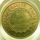 Photo numismatique  Monnaies Monnaies Fran�aises Troisi�me R�publique 100 Francs or III�me R�publique, 100 francs or type genie, 1907 A, G.1137a TTB+