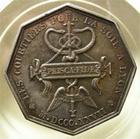 Photo numismatique  Monnaies Jetons Courtiers Jeton octogonale COURTIERS POUR LA SOIE, jeton octogonale en argent 31.5mm, Lyon 1827, SUPERBE