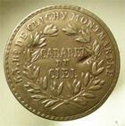 Photo numismatique  Monnaies Jetons Cabaret Monnaie de singe CABARET DU CIEL, Montmartre, monnaie de singe du type 20 francs or génie, 2 coups au revers, Rare!! TTB+