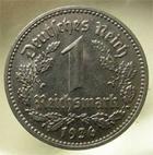 Photo numismatique  Monnaies Allemagne après 1871 Allemagne, Deutschland, Germany 1 mark, 1 reichmark Deutschland, Allemagne, Germany, 1 reichmark 1936 J, KM.78 SUPERBE
