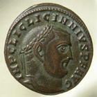 Photo numismatique  Monnaies Empire Romain LICINIUS I, LICINIO I,  Follis, folles,  LICINIUS I, follis, Antioche, genio augusti, RIC.162a TTB à SUPERBE