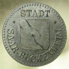 Photo numismatique  Monnaies Monnaies de nécéssité Alsace-Lorraine 10 Pfennig SARRE UNION, SAAR BRUCKENHEIM, 10 pfennig, E.10.2 TTB à SUPERBE