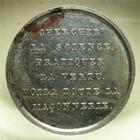 Photo numismatique  Monnaies Jetons Francs Maçons Jeton en argent FRANCS MACONS, CHALONS SUR SAÔNE, jeton en argent 23 mm, poinçon lampe, Labouret 530, TTB+ R!R!