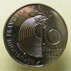Photo numismatique  Monnaies Monnaies Françaises Cinquième république 10 Francs 10 Francs SCHUMAN 1986, G.825 SUPERBE