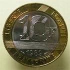 Photo numismatique  Monnaies Monnaies Françaises Cinquième république 10 Francs 10 Francs MONTESQUIEU 1989, G.828 FDC Rare!
