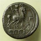 Photo numismatique  Monnaies République Romaine 114 / 113 av Jc Denier, denar, denario, denarius Mn AEMILIUS LEPIDUS, Denier frappé en 114.113 avant Jc, statue equestre, S.168 TTB