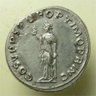 Photo numismatique  Monnaies Empire Romain TRAJAN, TRAJANUS, TRAIAN, TRAIANO Denier, denar, denario, denarius TRAJANUS, TRAIAN, TRAJAN, denier frappé à Rome en 107, Spes, RIC.127 SUPERBE belle monnaie!!!