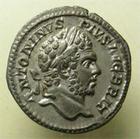 Photo numismatique  Monnaies Empire Romain CARACALLA Denier, denar, denario, denarius CARACALLA, denier frappé à Rome en 212, Serapis, RIC.195 SUPERBE/TTB