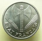 Photo numismatique  Monnaies Monnaies Françaises Etat Français 1 Franc ETAT Français, 1 Franc Bazor 1944, G.471 SUPERBE +