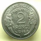 Photo numismatique  Monnaies Monnaies Françaises Gouvernement Provisoire 2 Francs GOUVERNEMENT PROVISOIRE, 2 Francs Morlon 1946, G.538a SUPERBE