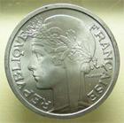 Photo numismatique  Monnaies Monnaies Françaises 4ème république 2 Francs QUATRIEME REPUBLIQUE, 2 Francs Morlon 1958, G.538b SUPERBE à FDC