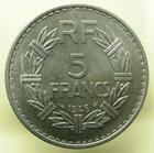 Photo numismatique  Monnaies Monnaies Françaises 4ème république 5 Francs QUATRIEME REPUBLIQUE, 5 Francs Lavrillier 1948, G.766a SUPERBE +