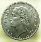 Photo numismatique  Monnaies Monnaies Françaises 4ème république 5 Francs QUATRIEME REPUBLIQUE, 5 Francs Lavrillier 1949, G.766a SUPERBE à FDC