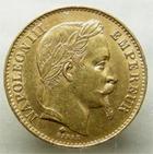Photo numismatique  Monnaies Monnaies Françaises Second Empire 20 Francs or NAPOLEON III, 20 francs or lauré, 1869 BB grand BB, G.1062 TTB+ R!