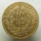 Photo numismatique  Monnaies Monnaies Française en or Second Empire 10 Francs or NAPOLEON III, 10 francs or lauré, 1868 BB Strasbourg, G.1015 TB+