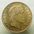 Photo numismatique  Monnaies Monnaies Française en or Second Empire 10 Francs or NAPOLEON III, 10 francs or lauré, 1863 A, Variété abeille plus éloignée!! G.1015 TTB Rare!!