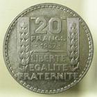 Photo numismatique  Monnaies Monnaies Fran�aises Troisi�me R�publique 20 Francs 20 Francs type Turin, 1937, argent, G.852 SUPERBE