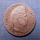 Photo numismatique  Monnaies Monnaies Françaises Louis Philippe 1/4 de Franc LOUIS PHILIPPE Ier 1/4 de Franc 1832 K Bordeaux Gad.355 TTB+