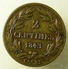 Photo numismatique  Monnaies Monnaies Françaises Louis Philippe 2 centimes Essai LOUIS PHILIPPE Ier, 2 centimes