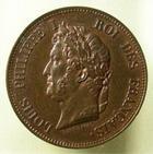 Photo numismatique  Monnaies Monnaies Françaises Louis Philippe 1 décime Essai LOUIS PHILIPPE Ier, 1 décime