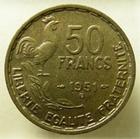 Photo numismatique  Monnaies Monnaies Françaises 4ème république 50 Francs 50 Francs Guiraud 1951 B, G.880 SUPERBE