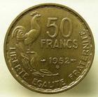 Photo numismatique  Monnaies Monnaies Françaises 4ème république 50 Francs 50 Francs Guiraud 1952 B, G.880 SUPERBE