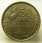 Photo numismatique  Monnaies Monnaies Françaises 4ème république 50 Francs 50 Francs Guiraud 1953 B, G.880 TTB à SUPERBE