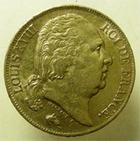Photo numismatique  Monnaies Monnaies Fran�aises Louis XVIII 20 Francs or LOUIS XVIII, 20 francs or buste nu, 1816 A Paris, G.1028 TTB+