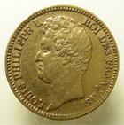Photo numismatique  Monnaies Monnaies Fran�aises Louis Philippe 20 Francs or LOUIS PHILIPPE Ier, 20 francs or non laur�, 1831 A Paris, tranche en relief, G.1030a TTB