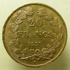 Photo numismatique  Monnaies Monnaies Fran�aises Louis Philippe 20 Francs or LOUIS PHILIPPE Ier, 20 francs or, 1837 W Lille, G.1031 TTB+