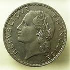 Photo numismatique  Monnaies Monnaies Fran�aises Troisi�me R�publique 5 Francs 5 francs Lavrillier 1933, G.760 SUPERBE