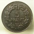 Photo numismatique  Monnaies Monnaies Françaises Troisième République 5 Francs 5 francs Lavrillier 1933, G.760 SUPERBE