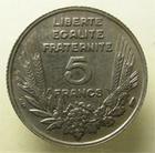 Photo numismatique  Monnaies Monnaies Françaises Troisième République 5 Francs 5 francs Bazor 1933, G.753 SUPERBE